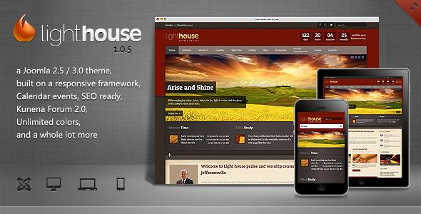 Lighthouse - Responsive Joomla Template Nonprofit