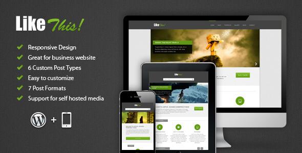 LikeThis Wordpress Theme Corporate