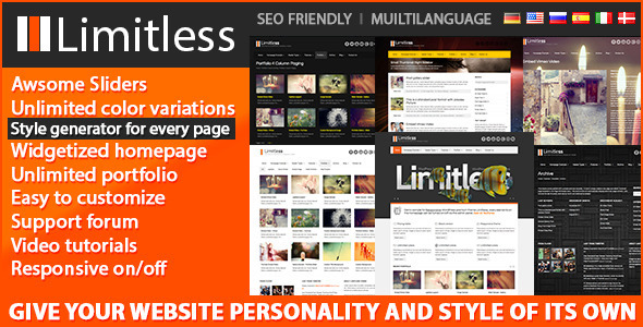 Limitless - Responsive Wordpress Premium Theme Corporate