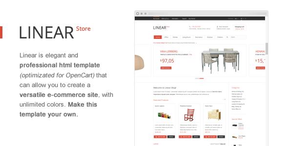 Linear Store – Premium HTML OpenCart Design Template Retail
