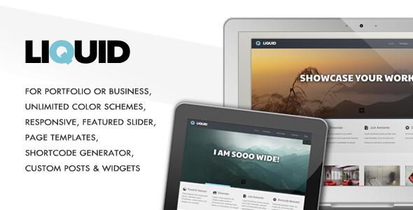 Liquid - Responsive Portfolio Theme WordPress Corporate