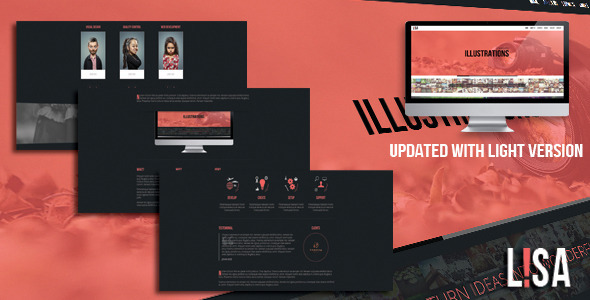 Lisa - Responsive One Page Parallax Template Creative