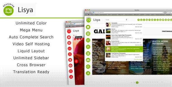 Lisya Portfolio Gallery Wordpress Theme Creative