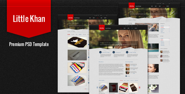 Little Khan Premium PSD Theme Creative