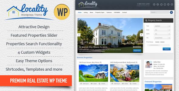 Locality - Real Estate WordPress Theme Corporate