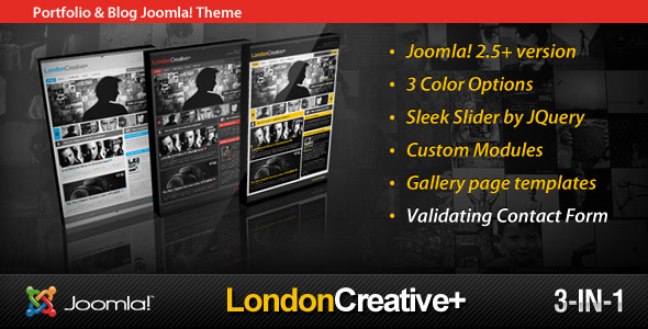 London Creative + (Portfolio & Blog Joomla Theme)
