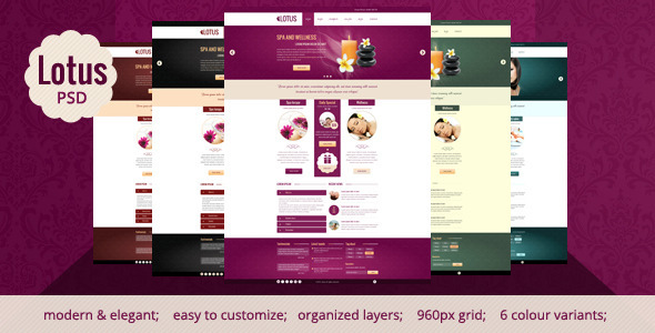 Lotus - Spa & Wellness PSD Template Miscellaneous