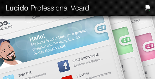 Lucido Professional Vcard Personal PSDTemplates