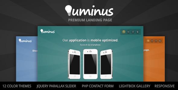 Luminus - Product Oriented Landing Page LandingPages Landing Page