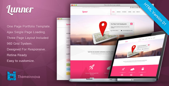 Lunner - Retina Responsive One Page HTML Template Creative