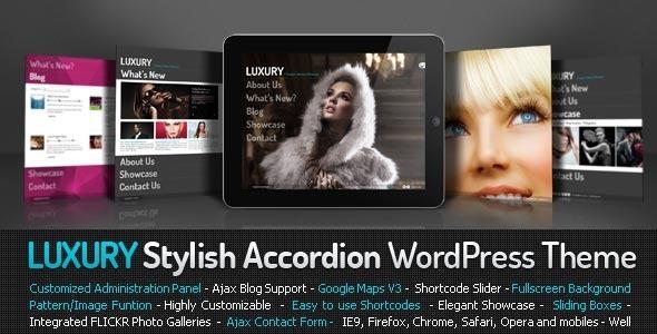 Luxury Stylish Accordion Wordpress Theme Creative