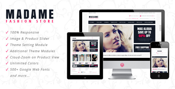 Madame Responsive Prestashop Theme Fashion