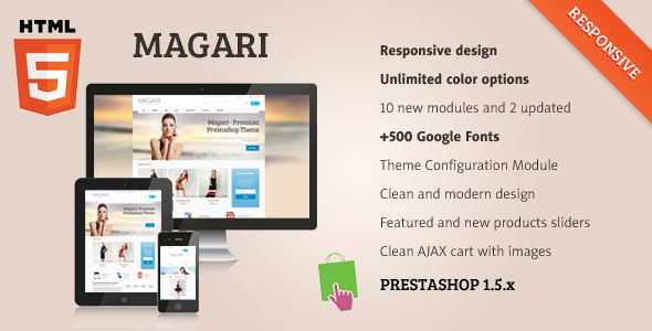 Magari - Responsive Prestashop Theme Shopping