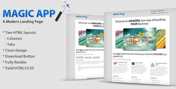 MagicApp - Modern Landing Page LandingPages Landing Page