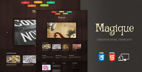 Magique - Creative HTML5 Template Creative
