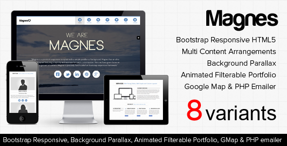 Magnes - HTML5 Responsive, Clean & Modern Theme Template