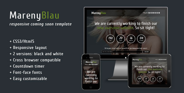 Mareny Blau - Coming Soon Template Specialty Page