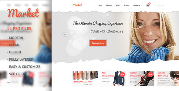 Market - eCommerce, Retail, Shopping PSD Retail
