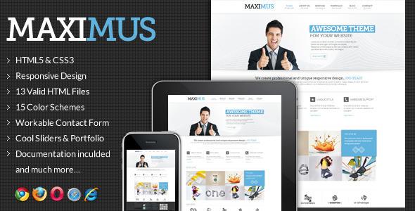 Maximus - Responsive Multi-Purpose Website Templat Template