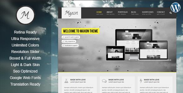 Maxon - Retina Responsive Multi-Purpose WP Theme WordPress