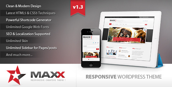 Maxx - Responsive Creative Wordpress Theme Corporate