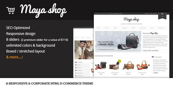 MayaShop HTML - Flexible e-Commerce theme Template Retail