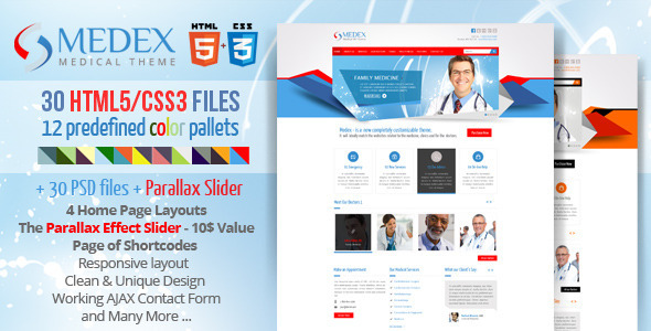 Medex - Medical, Doctor and Health care Responsive Template