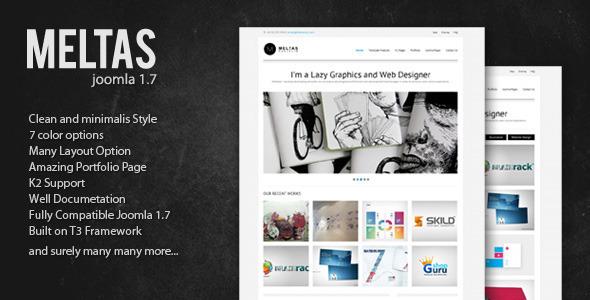 Meltas - Clean and Minimalist Joomla Templates Creative