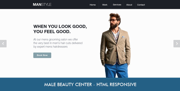 Men's Hair Salon - Beauty Template Miscellaneous