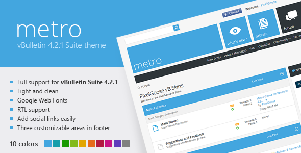 Metro - A Theme for vBulletin 4.2 Suite Forums vBulletin