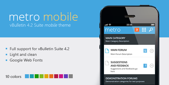 Metro Mobile - A Mobile Theme for vBulletin 4.2 Forums