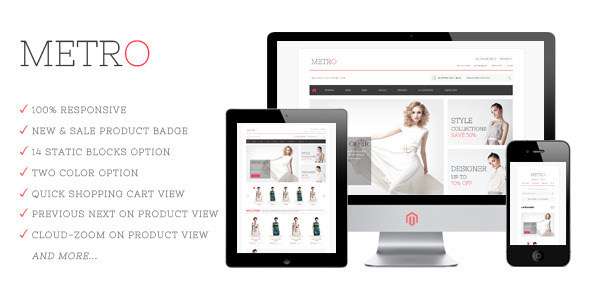 Metro Responsive Magento Theme Fashion
