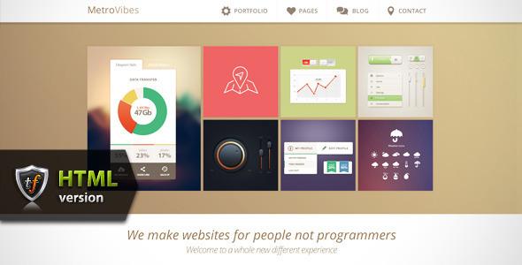 Metro Vibes - Showcase HTML Theme Template Creative