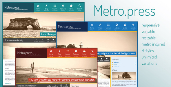 Metro.press - Expressive WordPress Theme Creative