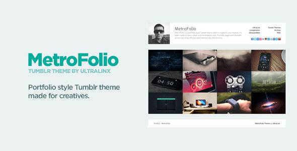 MetroFolio - Clean Portfolio Style Tumblr Theme