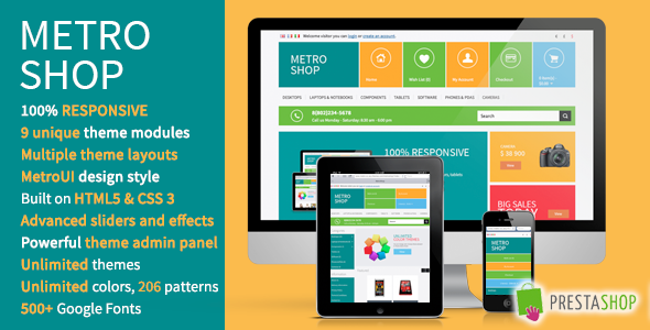 MetroShop – Premium Responsive PrestaShop theme! Shopping