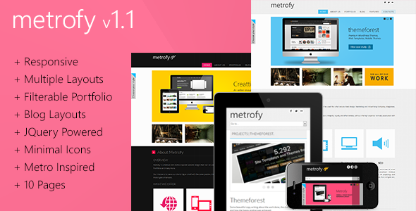 Metrofy - Responsive Metro Inspired Template Creative