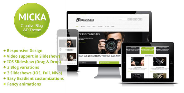 Micka - a Responsive Blog Wordpress Theme Corporate