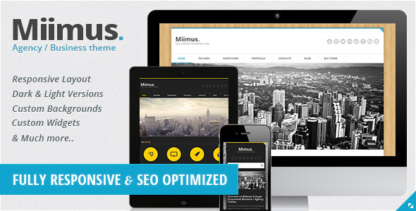 Miimus - Responsive Business & Agency Theme WordPress