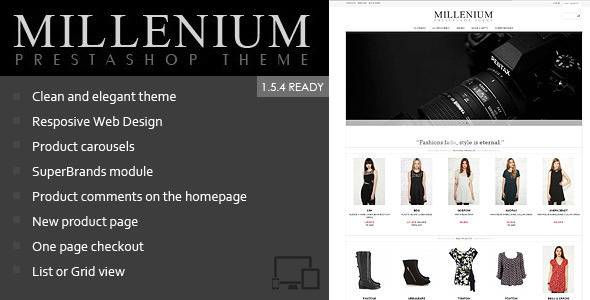 Millenium - Responsive Prestashop 1.5 Theme Fashion