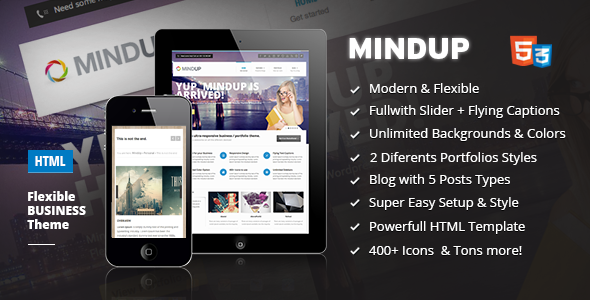 MindUp - A Flexible Corporate HTML Theme Template Corporate