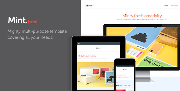 Mint - Mighty Multi-Purpose Template Corporate