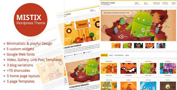 Mistix: A Minimal Creative Wordpress Theme Creative
