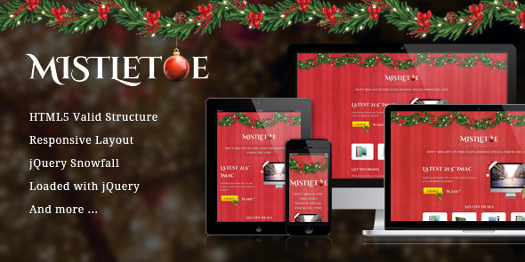 MistleToe - A Christmas Special Landing Page LandingPages Landing Page
