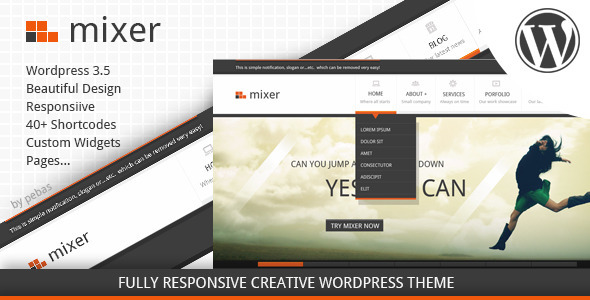 Mixer - Creative Responsive WP Theme WordPress Creative