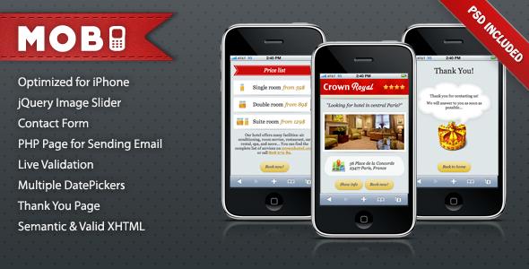 Mobi iPhone Landing Page LandingPages Landing Page