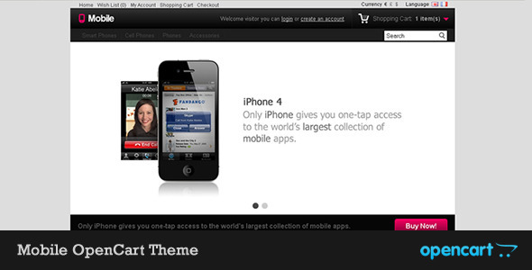 Mobile OpenCart Theme