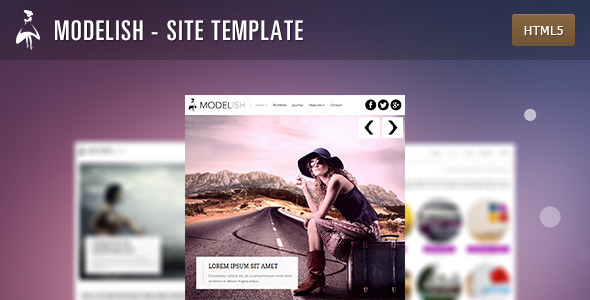 Modelish - HTML5 Site Template Creative