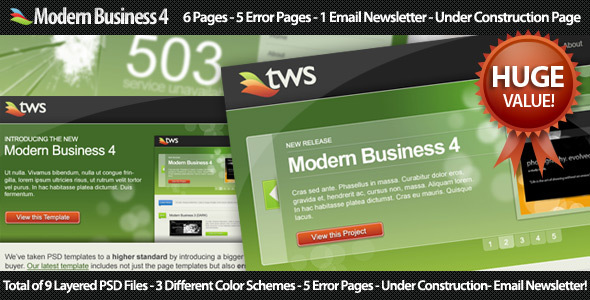 Modern Business 4 Corporate PSDTemplates