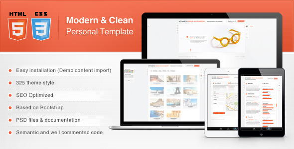 Modern & Clean Personal Template Personal